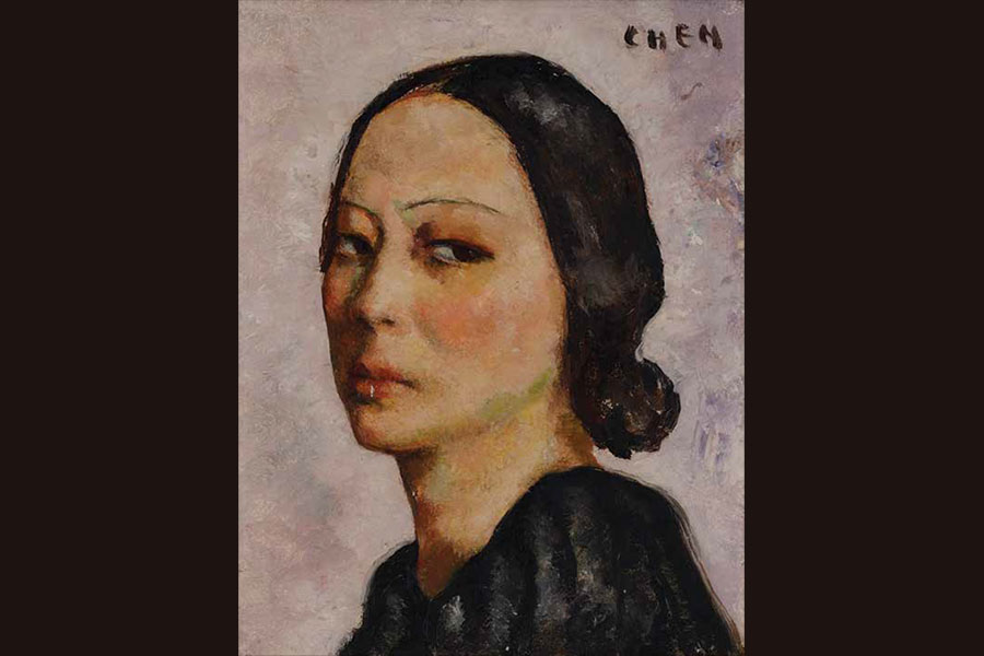 Self-Portrait, Georgette Chen, Singapore, c. 1946, oil on canvas