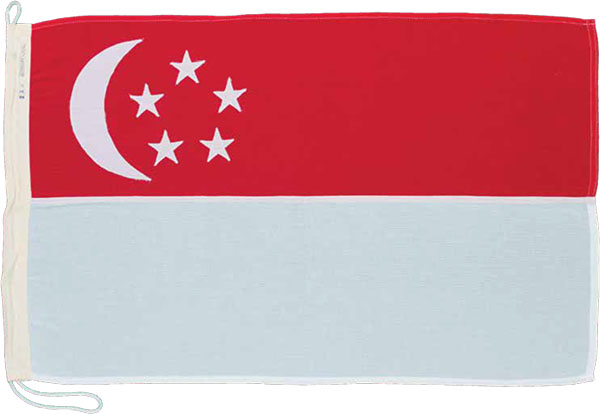 Singapore flag, Singapore, 1960-1980. Collection of National Museum of Singapore