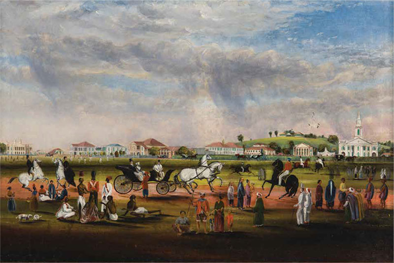 The Esplanade from Scandal Point, John Turnbull Thomson, Singapore, 1851, oil on canvas.