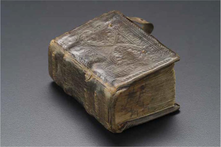 Miniature New Testament, Armenia, or Armenian diaspora, early 18th century, leather binding, paper with ink, colours and gold leaf.