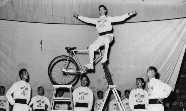 The Acrobatic Cycling Troupe, Kong Chow Wui Koon (冈州会馆飞车队)