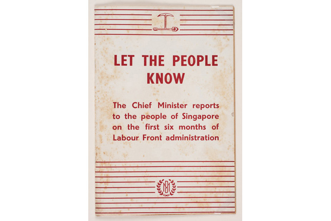 David Marshall Chief Minister's Report
