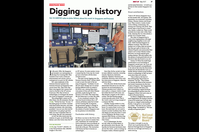 John Miksic article in What's Up