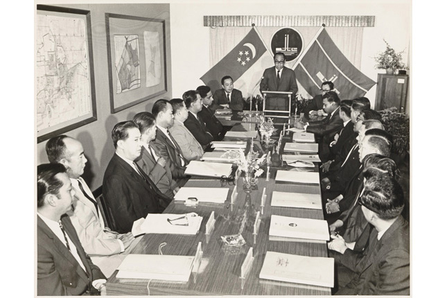 Dr Goh Keng Swee at JTC Meeting in 1968