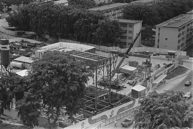 Construction Site of the Tiong Bahru MRT Station