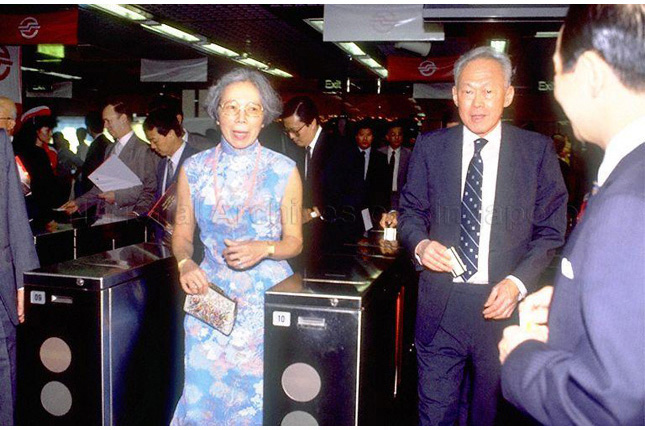 Prime Minister Lee Kuan Yew at the Official Opening of the MRT System
