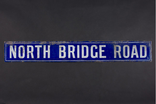 Street Sign of North Bridge Road