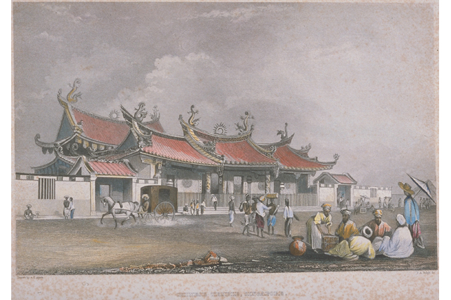 Chinese Temple Singapore 1842