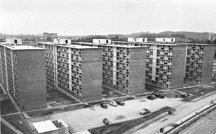 Housing and Development Board (HDB) flats - Blocks 24, 25, 26, 27 and 28 in Tanglin Halt, 1962