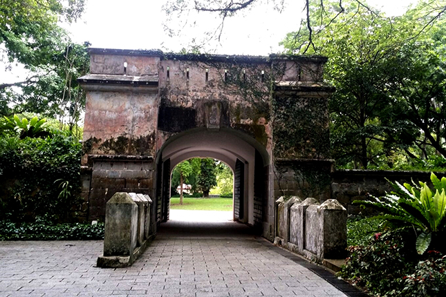 Remnants of Former Gate and Wall of Fort Canning