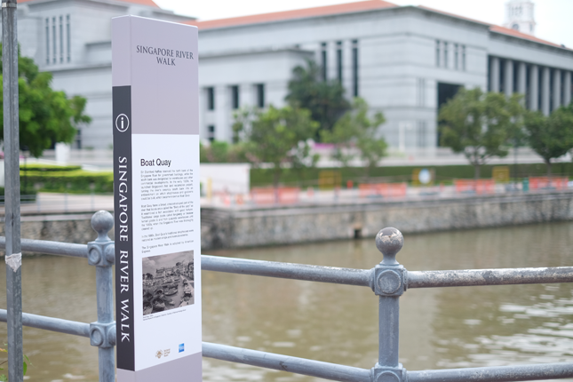 Boat Quay Singapore River Walk marker