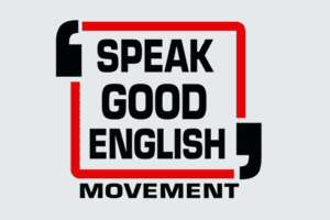 speak good english movement