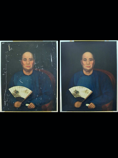 Conservation Treatment of the Portrait of Tan Kim Seng