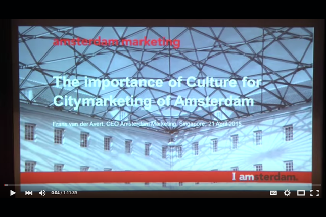 NHB Distinguished Speaker Series: Lecture on 'The Importance of Culture for Citymarketing'