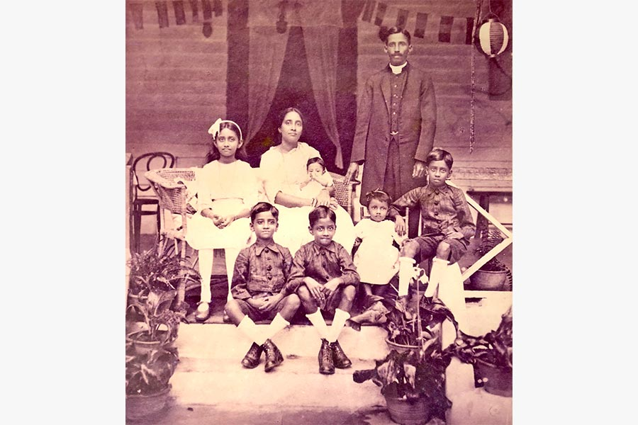 Photograph of the JA Supramaniam family