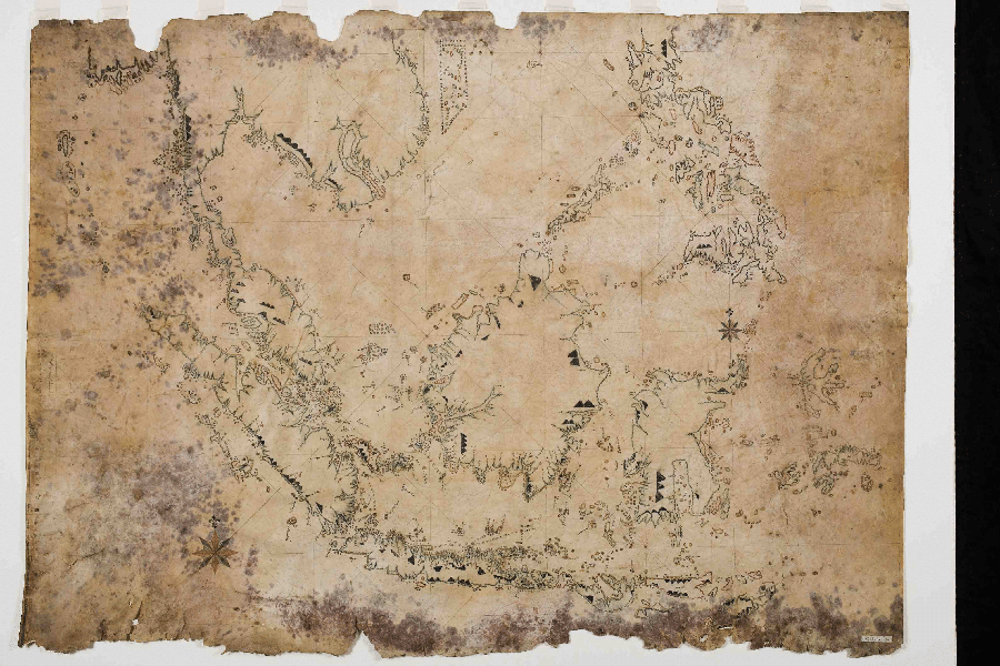 photograph-of-a-nautical-map-of-the-east-indian-archipelago