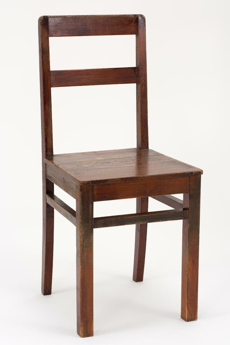 wooden school chair used in singapore chinese girls school scgs
