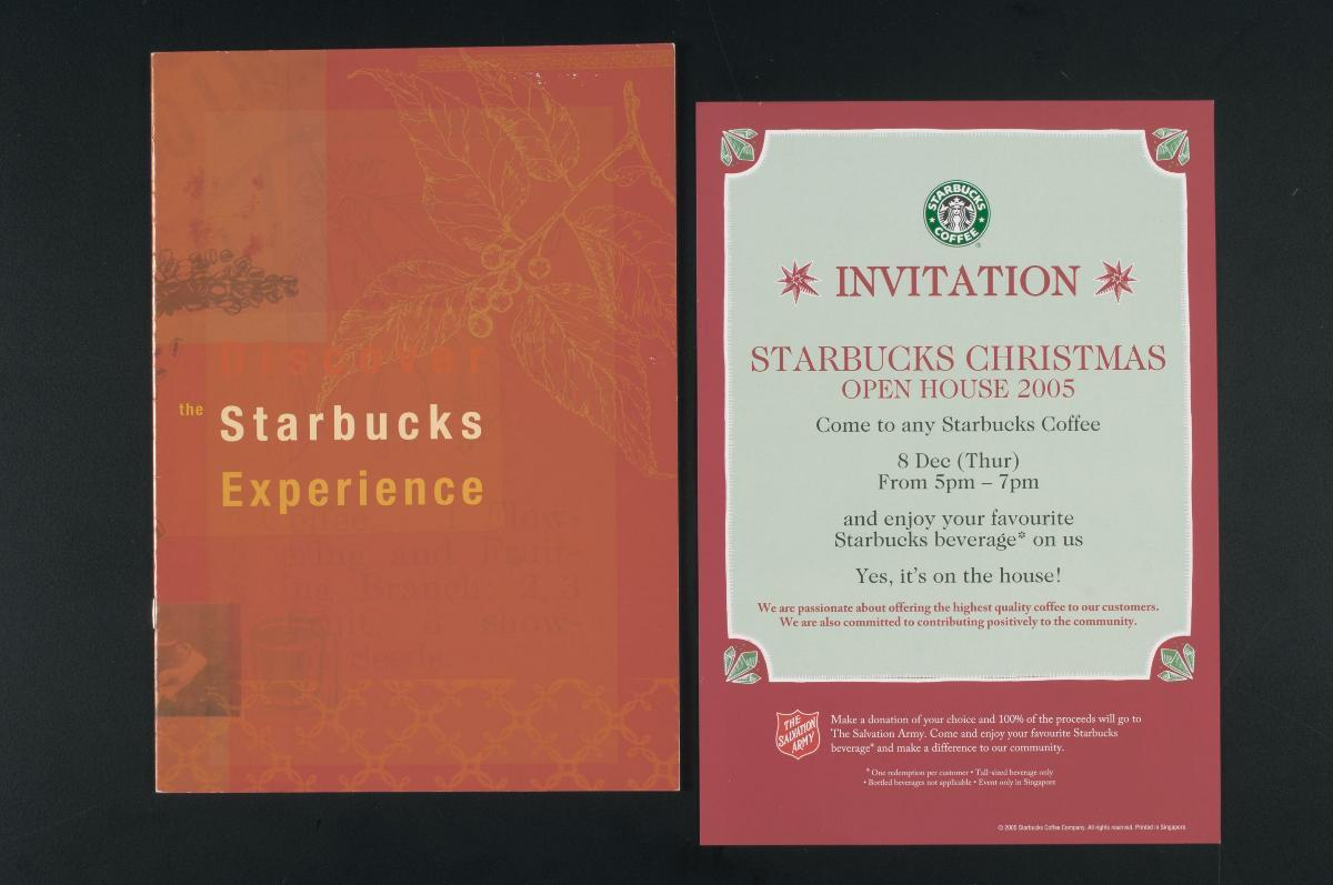 Menu And Leaflet From Starbucks Coffee