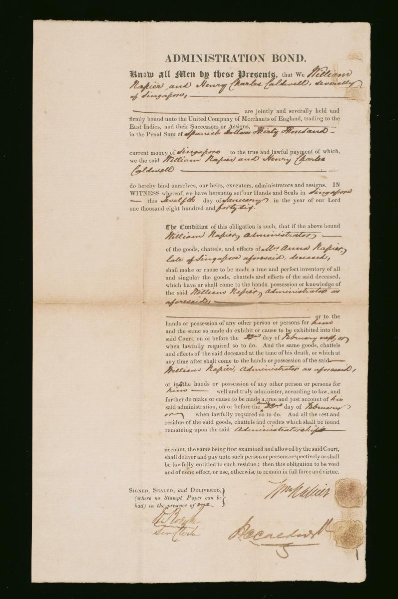 Document From The Collection Of Straits Settlements Legal Records - Make legal documents