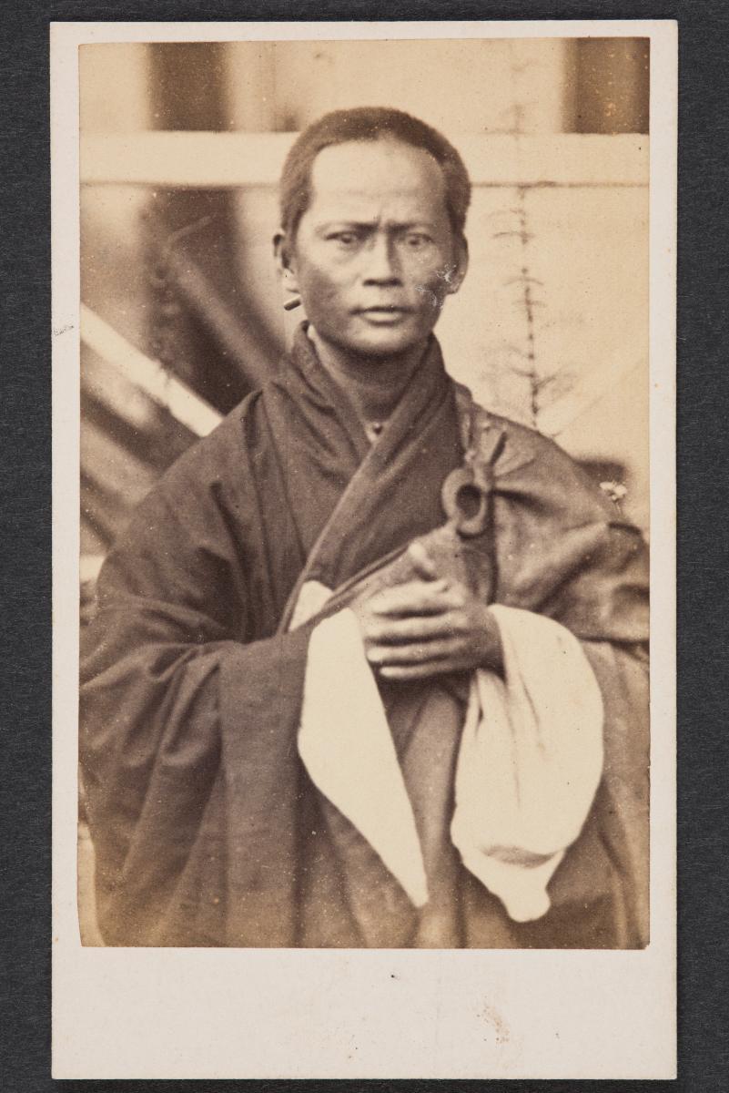 Portrait Of Vietnamese Buddhist Monk Carte De Visite