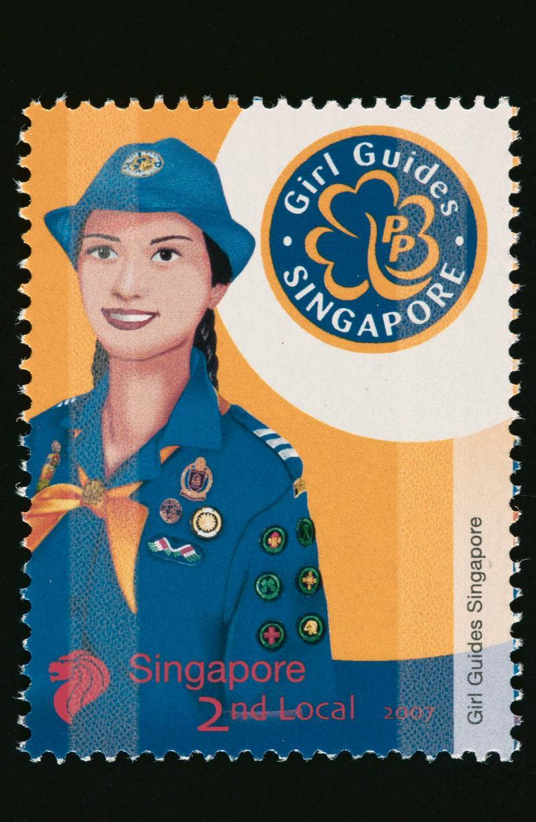 Stamp Featuring The Girl Guides Singapore Uniform