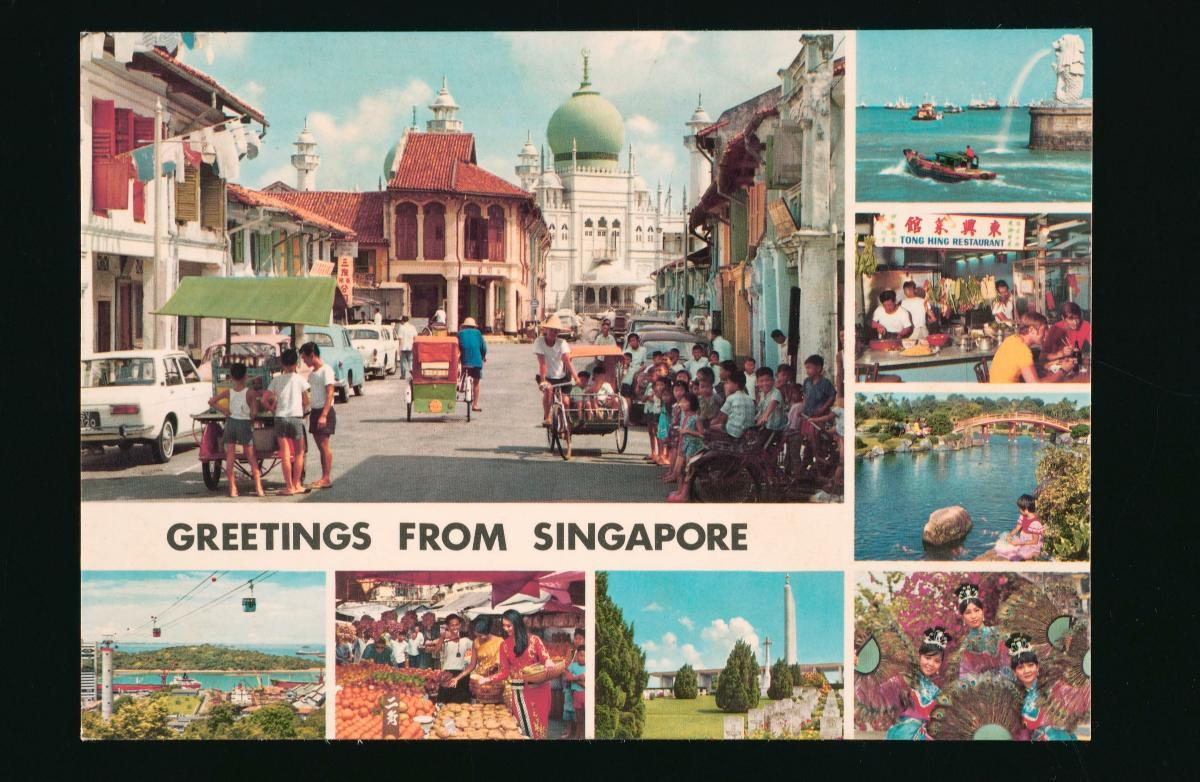 Greetings From Singapore Postcard