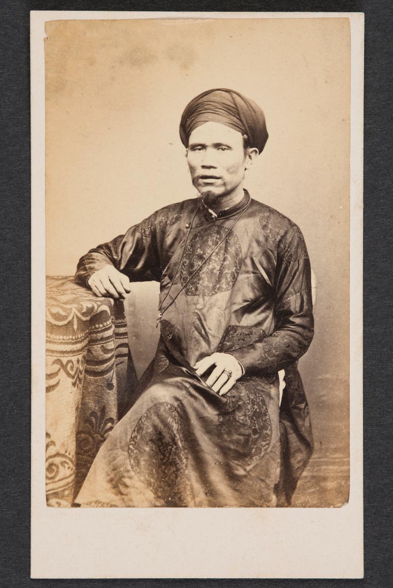 Portrait Of Vietnamese Man Carte De Visite
