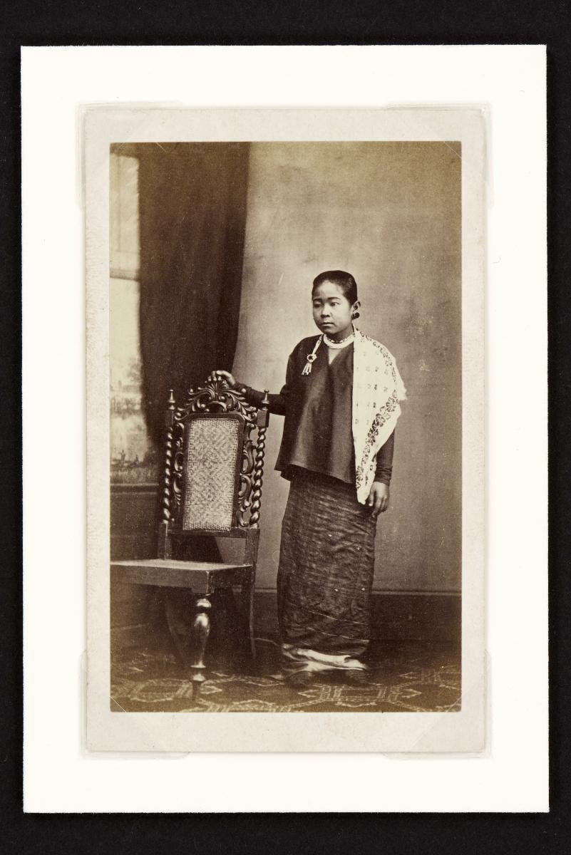 Portrait Of A Malay Woman Carte De Visite