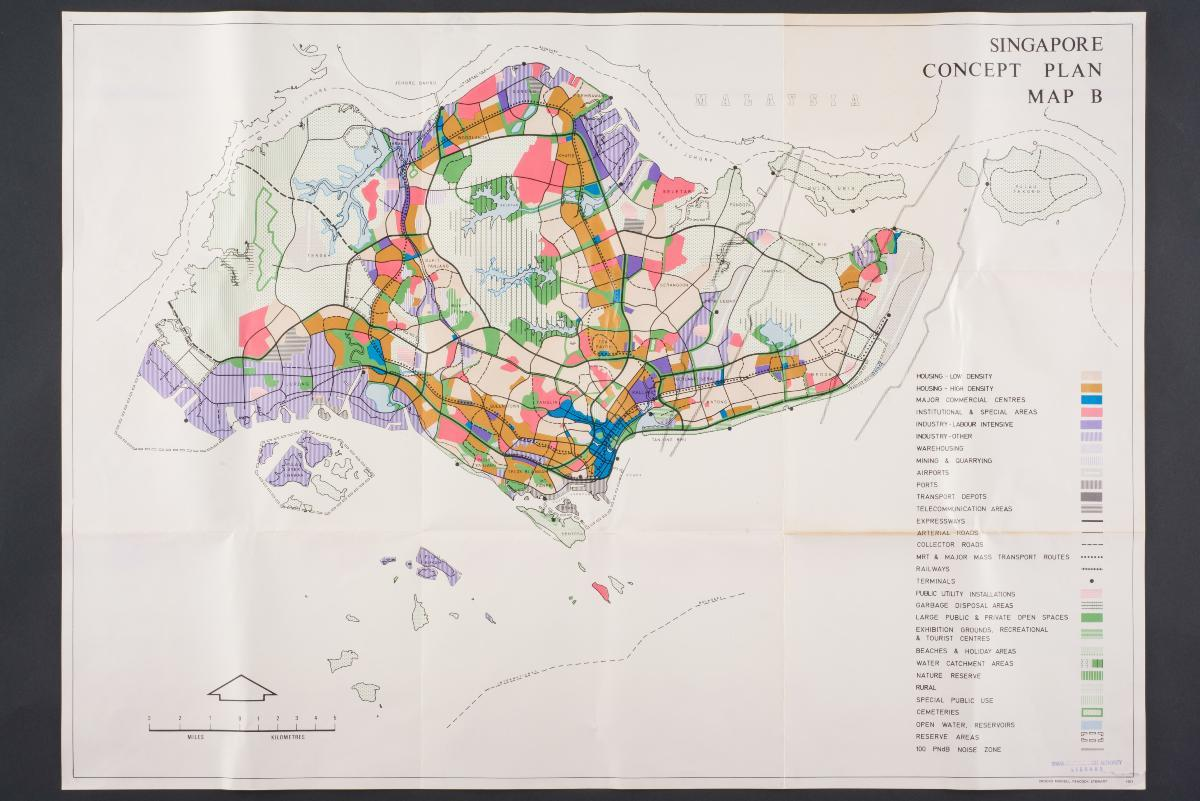 National Collection - Singapore map 1990