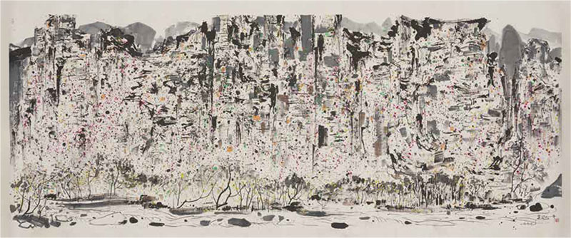 Zhangjiajie, Wu Guanzhong, China, 1997, Chinese ink and colour on paper