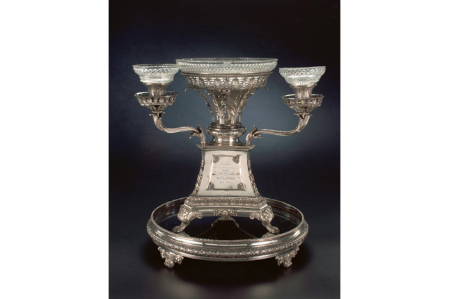 Silver Epergne for William Farquhar