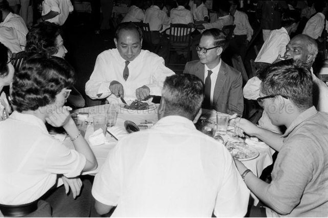 Dr Goh Keng Swee at the first National Trade Union Congress conference in 1962