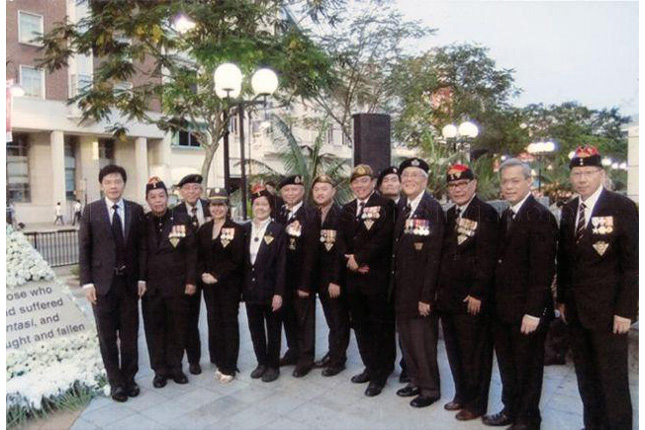 Singapore Armed Forces Veterans League (SAFVL) at a memorial service on 2014