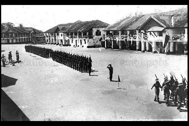 Passing out parade at Pulau Blakang Mati