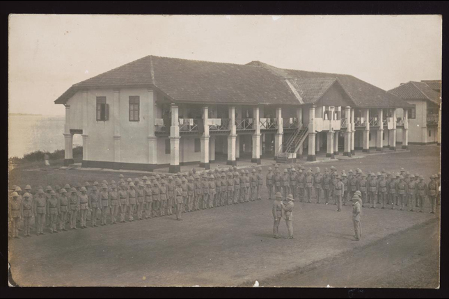 Royal Garrison Artillery military parade at Pulau Blakang Mati