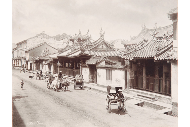 G.R. Lambert & Co. albumen print of the Thian Hock Keng Temple at Telok Ayer Street