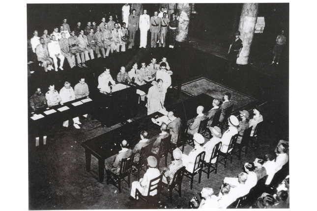 Japanese Surrender in City Hall