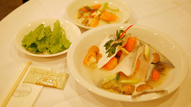 Steamed pomfret at Hung Kang Teochew Restaurant