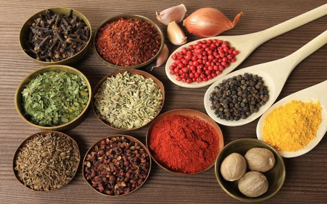 Herbs and spices used in Ayurveda
