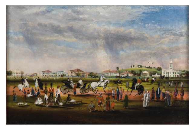 The Esplanade from Scandal Point (1851) by J.T. Thomson, Gift of Dr Gift of Dr. John Hall-Jones, Collection of National Museum of Singapore