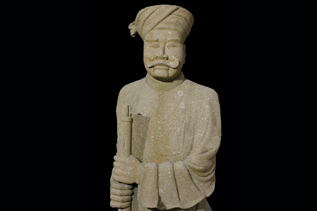 Sikh-Statue-at-the-tomb-of-Mr-Teo-Chin-Chay