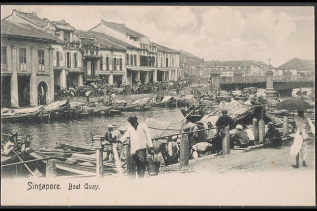 Boat Quay in the past
